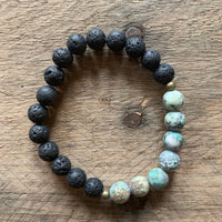 Aromatherapy Lava & African Turquoise Bracelet