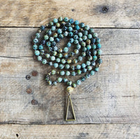 African Turquoise Triangle Mala
