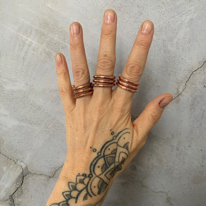Solid Copper Coil Ring