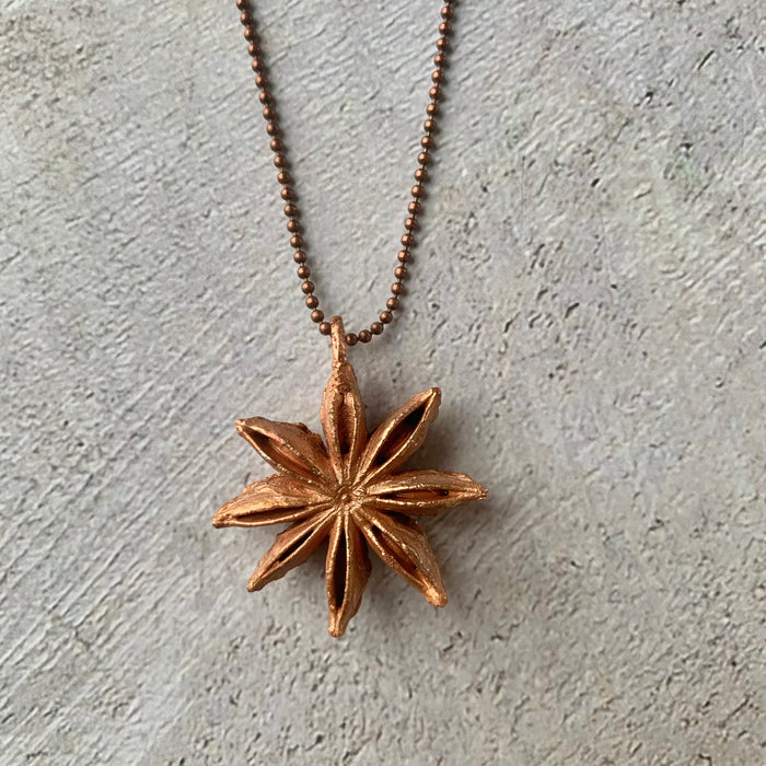 Star Anis Copper Chain Necklace