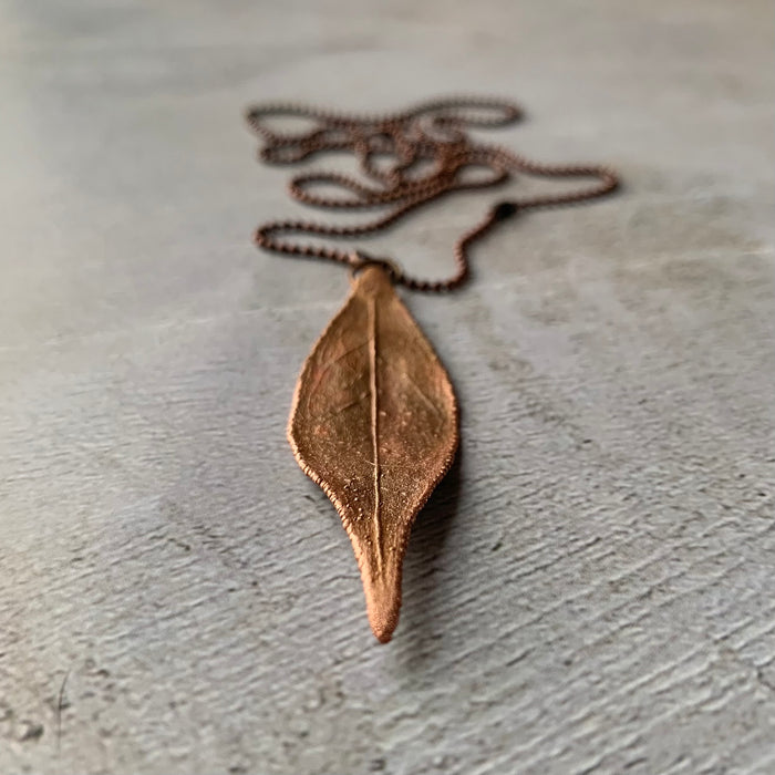 Leaf Copper Chain necklace