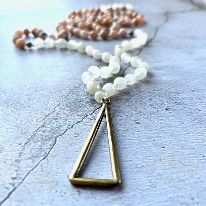 Moonstone Triangle Mala