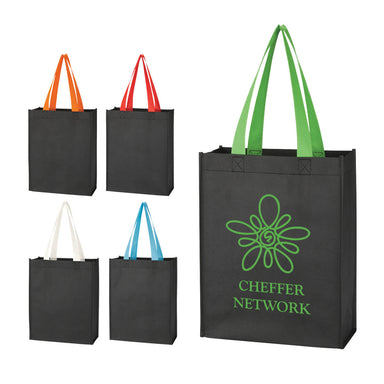 Colored Handle Tote Bag