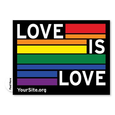 Gay Pride Love Is Love Sticker