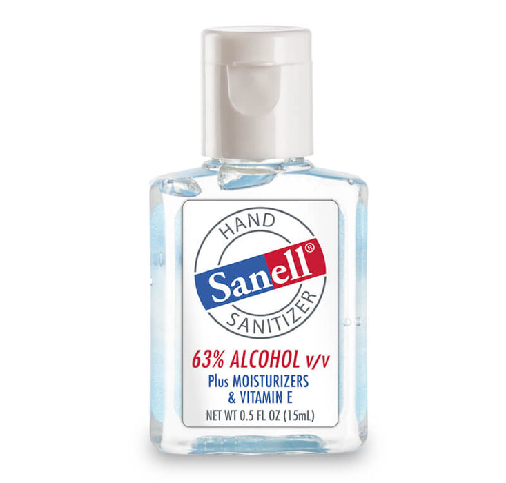 Hand Sanitizer .5 oz 63% Alcohol