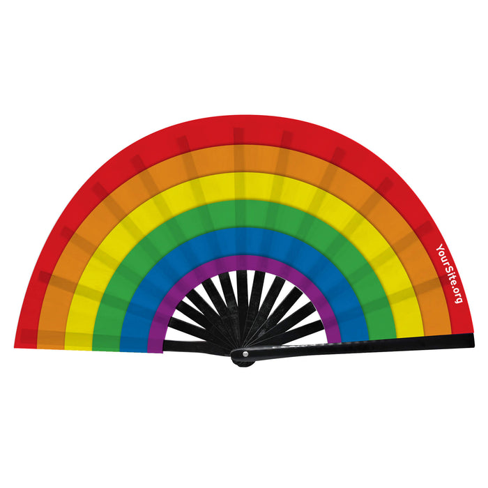 Pride Rainbow Snap Fan
