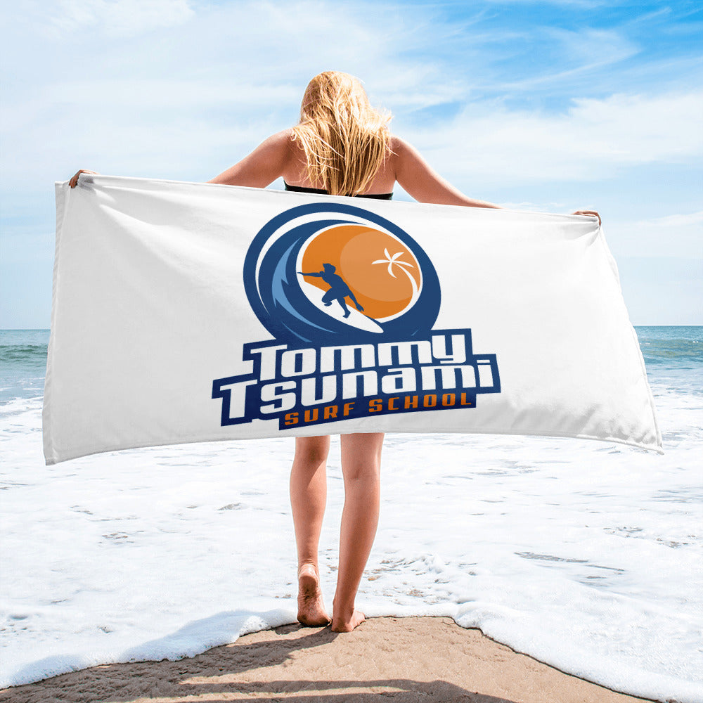 White Beach Towel