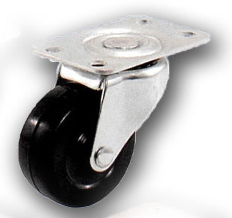 "2-1/2"" Swivel Rubber Caster with Top Plate"