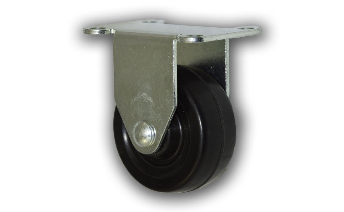 "3"" Rigid Rubber Caster with Top Plate"