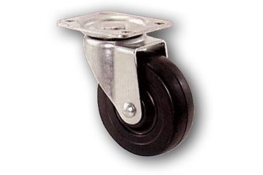 "5"" Swivel Rubber Caster with Top Plate"