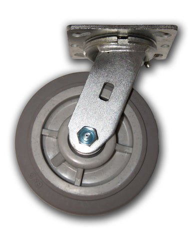 "6"" x 2"" Swivel Caster with Duratek TPR Wheel"