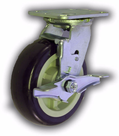 "6"" Swivel Caster Poly/Poly Wheel with Brake"