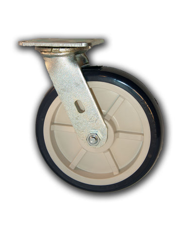 "8"" Swivel Caster Poly/Poly Wheel"
