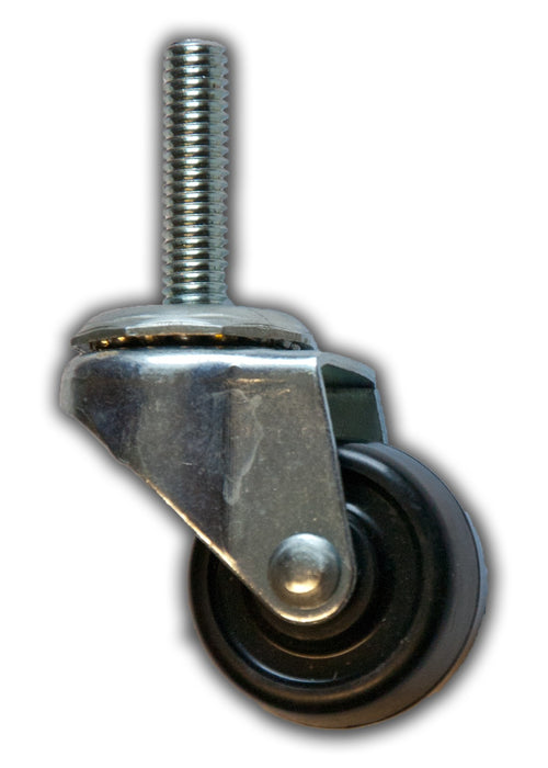 "1-5/8"" Swivel Rubber Caster with 3/8"" x 1-1/2"" Stem"