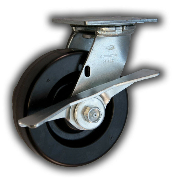 "6"" x 2"" Swivel Phenolic Caster & Side Brake"