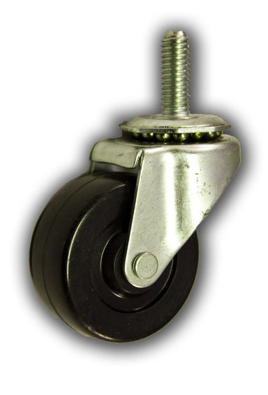 "2"" Swivel Rubber Caster with 3/8"" x 1"" Stem"