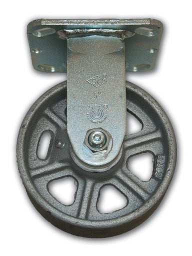 "5"" Rigid Caster Cast Iron Wheel"
