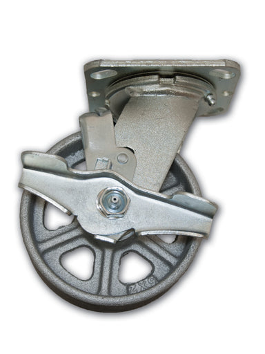 "5"" Swivel Caster Cast Iron Wheel with Top Lock Brake"