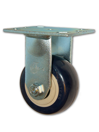 "4"" x 2"" Economy Rigid Caster with Polyurethane Wheel"