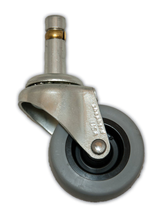 "2"" Swivel TPR Caster with 7/16"" x 1-3/8"" Grip Ring Stem"