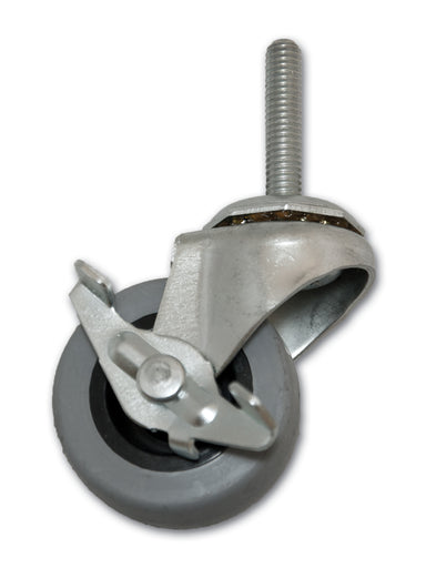 "2"" Swivel TPR Caster with 5/16"" x 1-1/2"" Stem & Side Brake"