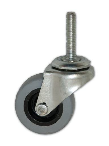 "2"" Swivel TPR Caster with 5/16"" x 1-1/2"" Stem"