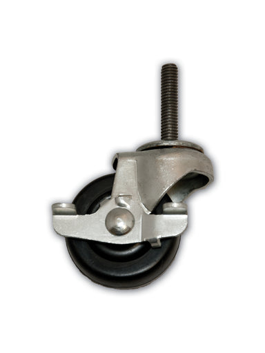 "2"" Swivel Rubber Caster with 5/16"" x 1-1/2"" Stem & Side Brake"