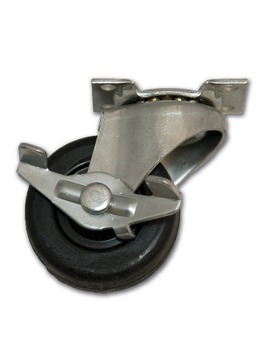 "2"" Swivel Rubber Caster with Top Plate & Side Brake"