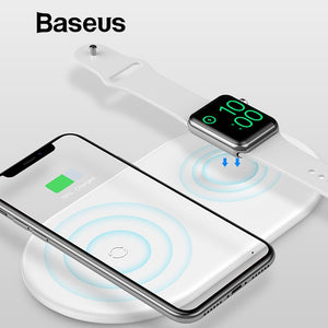 2 in 1 Wireless Charger Pad For Apple Watch and iPhone X