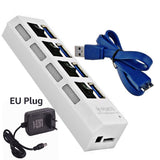 Portable USB 4 And 7 Port HUB