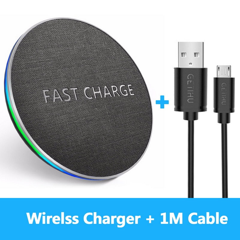 Fast Wireless Charger For iPhone X And Samsung Note