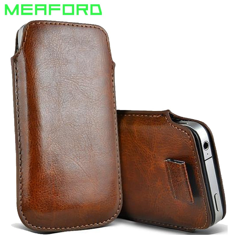 Leather Pouch Holster For iPhone X