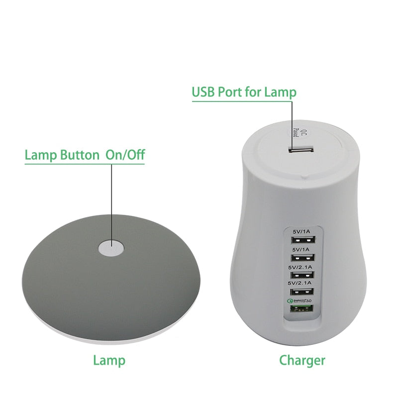 Mushroom LED Lamp Multi Charger/Docking Station.