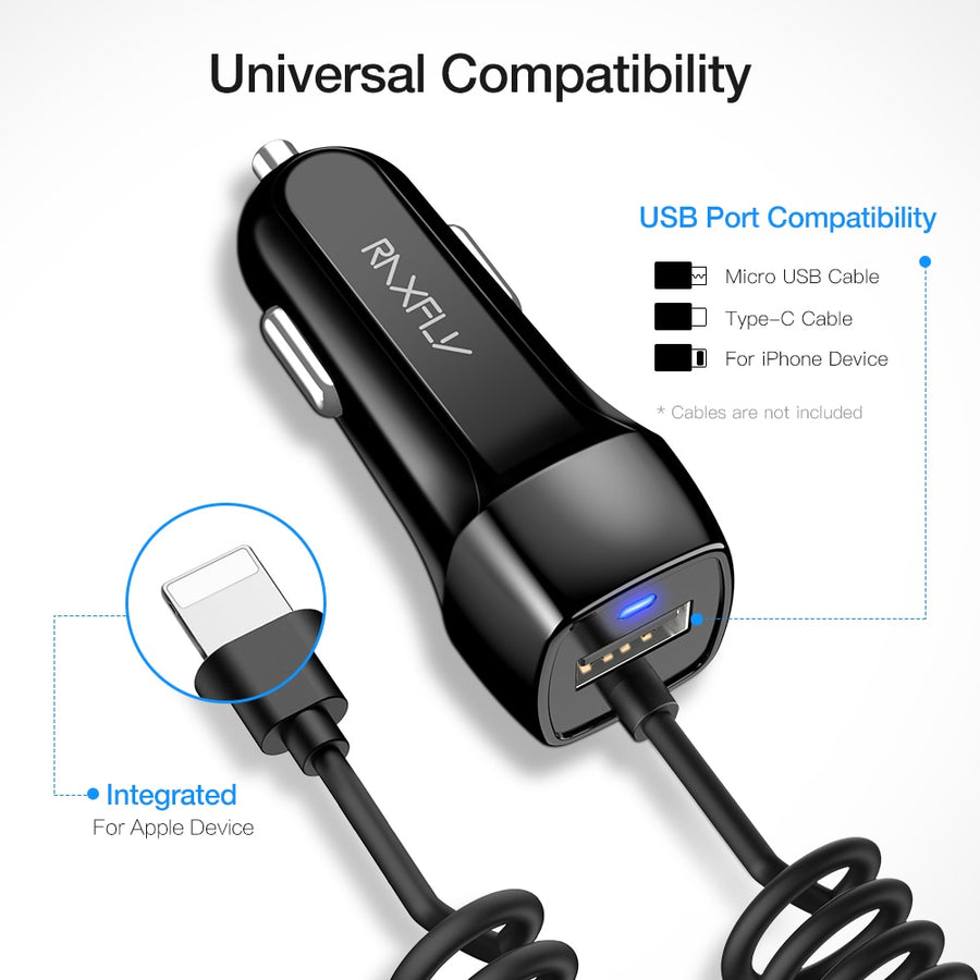 Lightning USB Car Charger For iPhone