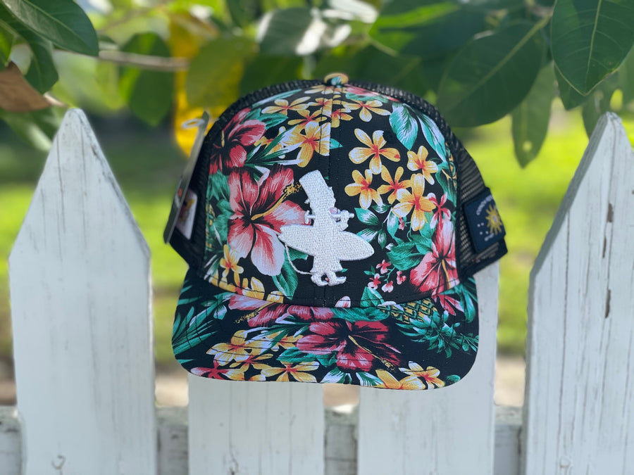 OG Lid - Black Hawaiian Floral