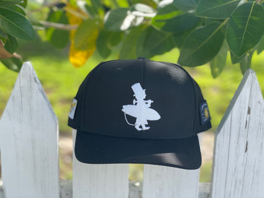 "The Original Lost Boy Hat ""Reimagined"" - Black and White Solid Back"