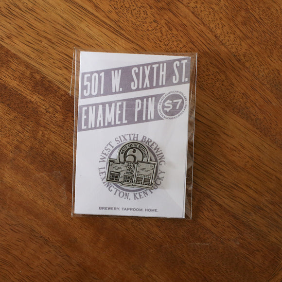 West Sixth Pewter Pin
