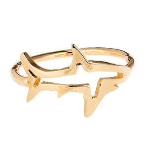 Shadow Shark Ring- Recycled Solid Gold (ONE LEFT)