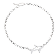 Load image into Gallery viewer, Shadow Shark Bracelet- Recycled Silver