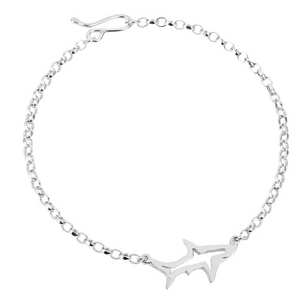 Shadow Shark Bracelet- Recycled Silver