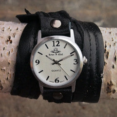 Black Magic Triple Wrap Watch