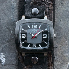 Rugged Brown Men's Cuff Watch