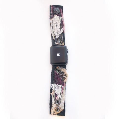 Burgundy Ballet Classic Apple Watch Strap