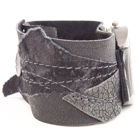 Black Magic Wide Cuff Watch