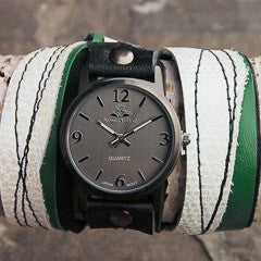 Gameday Glamour Rider Green Triple Wrap Watch