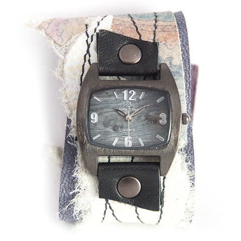 Pretty Paisley Wide Cuff Watch