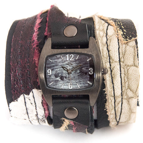 Burgundy Ballet Triple Wrap Watch