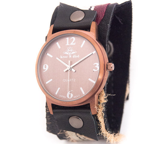 Burgundy Ballet Narrow Cuff Watch
