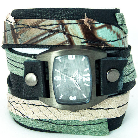 Twisted Tuscan Triple Wrap Watch