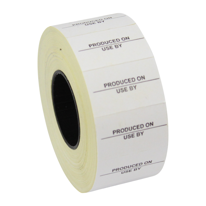 Printed CT7 'Produced On/Use By' 26 x 16mm Price Gun Labels